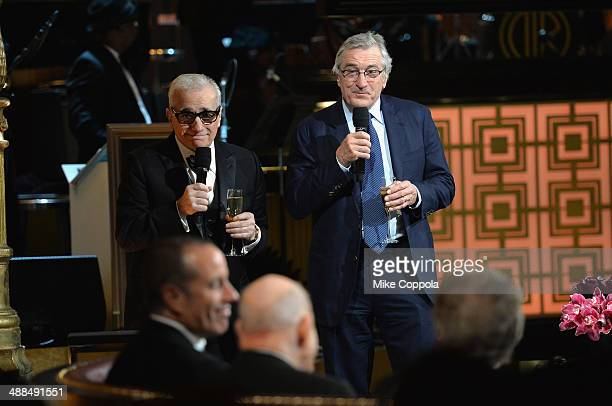 Director Martin Scorsese and Actor Robert De Niro speak onstage at Spike TV's 'Don Rickles One Night Only' on May 6 2014 in New York City