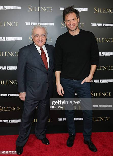 Director Martin Scorsese and Bennett Miller attend the New York Screening of 'Silence' at Regal EWalk Theater on December 8 2016 in New York City