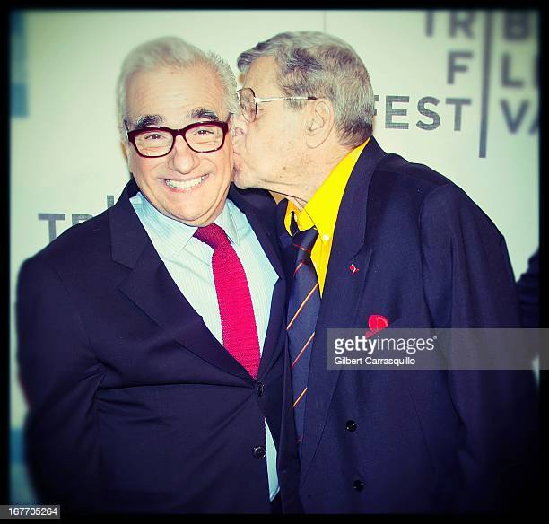 """Director Martin Scorsese and comedian Jerry Lewis attend the closing night screening of """"The King of Comedy"""" during the 2013 Tribeca Film Festival at..."""