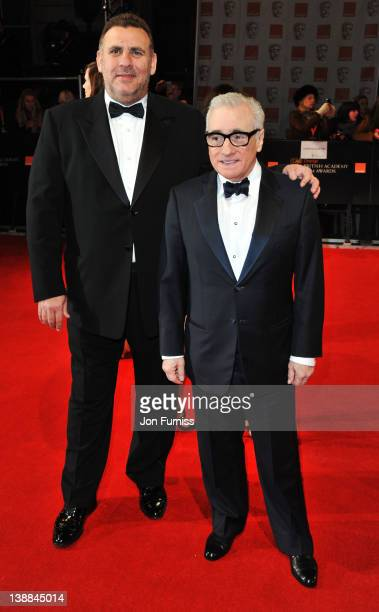 Director Martin Scorsese and Graham King attend the Orange British Academy Film Awards 2012 at the Royal Opera House on February 12 2012 in London...