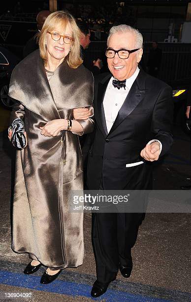 Director Martin Scorsese and Helen Morris arrives at the 17th Annual Critics' Choice Movie Awards held at The Hollywood Palladium on January 12 2012...