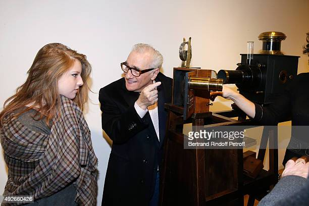 Director Martin Scorsese and his daughter Francesca Visit the 'Jerome Seydoux Pathe Foundation' on October 14 2015 in Paris France