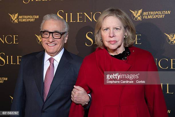 Director Martin Scorsese and his wife Helen Morris attend the Silence Paris Premiere at Musee National Des Arts Asiatiques Guimet on January 12 2017...