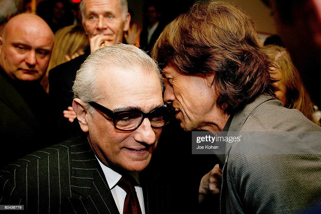 Director Martin Scorsese and Singer Mike Jagger attend the Daily Variety Gotham's 10th Anniversary party on March 30, 2008 in New York City.