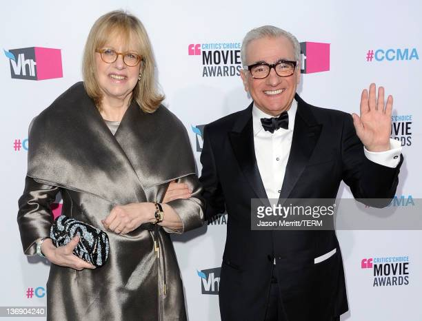 Director Martin Scorsese and wife Helen Morris arrive at the 17th Annual Critics' Choice Movie Awards held at The Hollywood Palladium on January 12...
