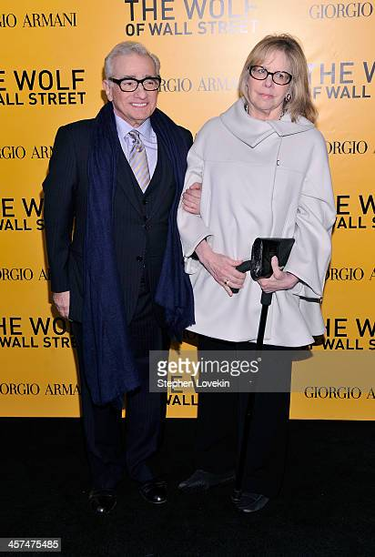 Director Martin Scorsese and wife Helen Morris attend Giorgio Armani Presents The Wolf Of Wall Street world premiere at the Ziegfeld Theatre on...