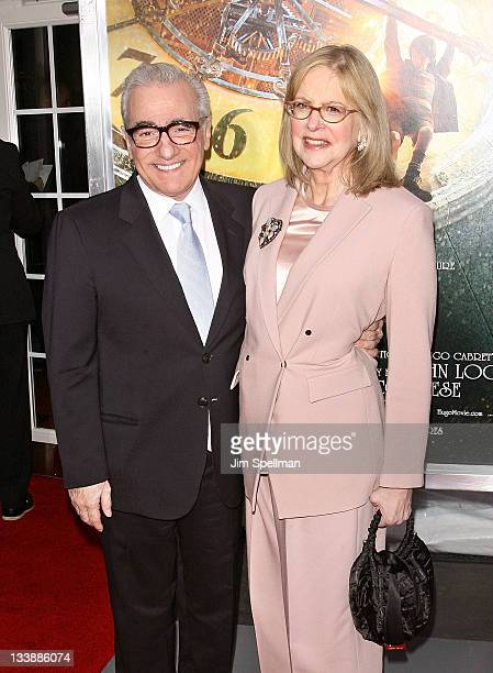 Director Martin Scorsese and wife Helen Morris attend the Hugo premiere at the Ziegfeld Theatre on November 21 2011 in New York City