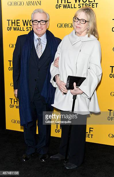 Director Martin Scorsese and wife Helen Morris attend the The Wolf Of Wall Street premiere at Ziegfeld Theater on December 17 2013 in New York City