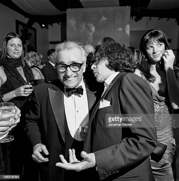 Director Martin Scorsese and writer Fran Lebowitz are photographed for Vanity Fair Magazine on February 27 2005 at the Vanity Fair Oscar Party at...