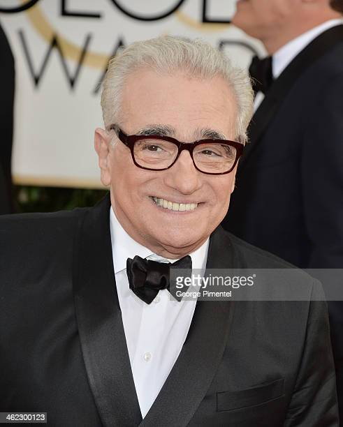 Director Martin Scorsese arrives at the 71st Annual Golden Globe Awards at The Beverly Hilton Hotel on January 12 2014 in Beverly Hills California