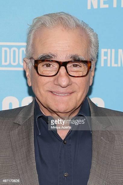 Director Martin Scorsese attends DOC NYC screening of 'Hitchcock/Truffaut' at Chelsea Bow Tie Cinemas on November 14 2015 in New York City