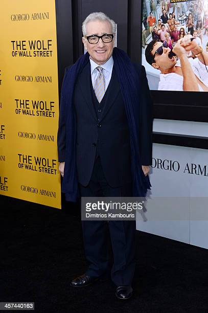 Director Martin Scorsese attends the 'The Wolf Of Wall Street' premiere at the Ziegfeld Theatre on December 17 2013 in New York City