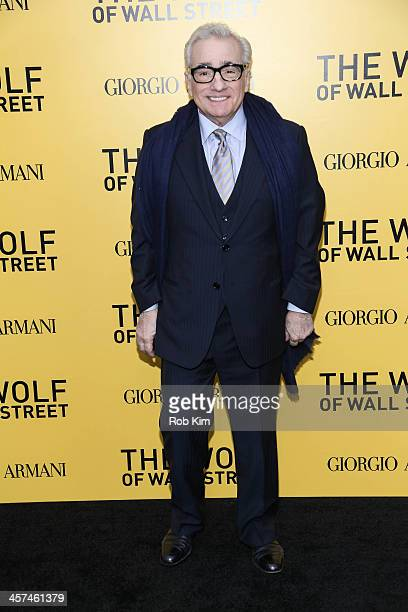 Director Martin Scorsese attends the 'The Wolf Of Wall Street' premiere at Ziegfeld Theater on December 17 2013 in New York City