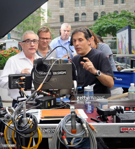 Director Martin Scorsese filming on location for 'The Wolf Of Wall Street' on August 25 2012 in New York City