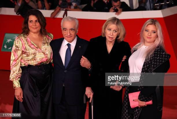 US director Martin Scorsese his wife US producer Helen Morris their daughter Francesca Scorsese and Scorsese's daughter Cathy Scorsese pose as they...