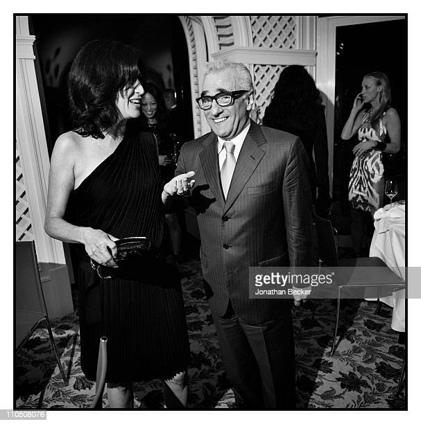 Director Martin Scorsese is photographed at Vanity Fair Cannes Party at the Eden Roc, Cap d'Antibes for Vanity Fair Magazine on May 15, 2010 in...