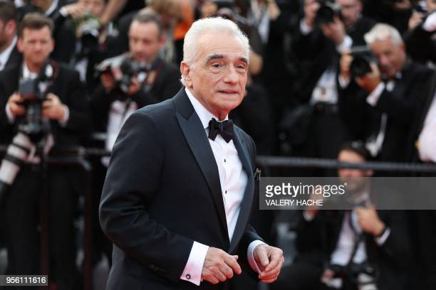 US director Martin Scorsese poses as he arrives on May 8 2018 for the screening of the film Todos Lo Saben and the opening ceremony of the 71st...