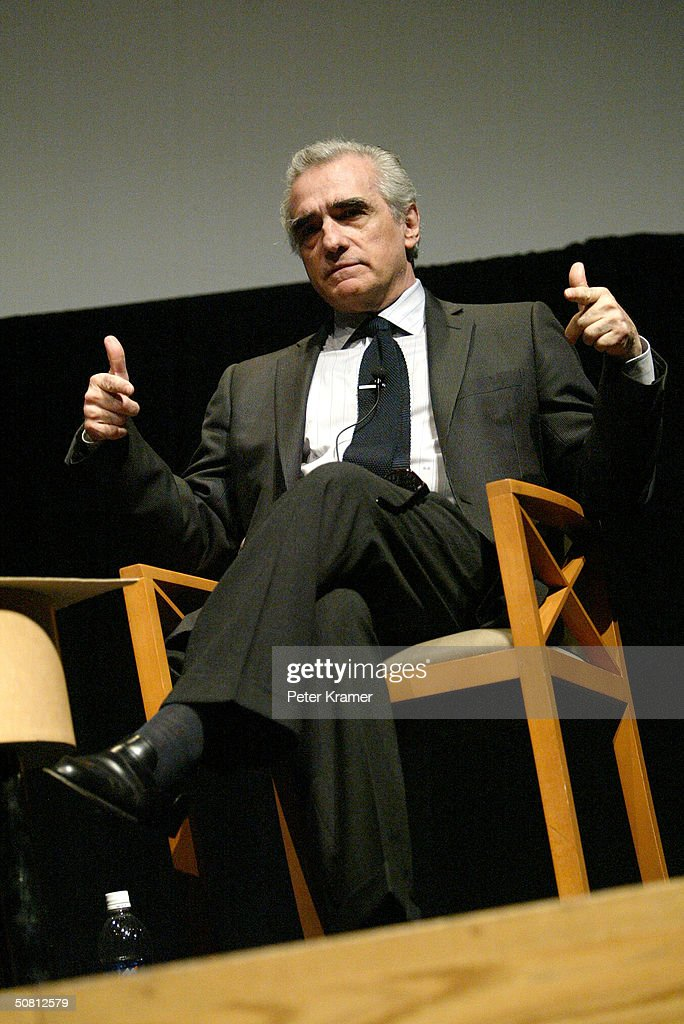 Director Martin Scorsese speaks at the Scorsese And Music Panel during the 2004 Tribeca Film Festival May 7, 2004 in New York City.