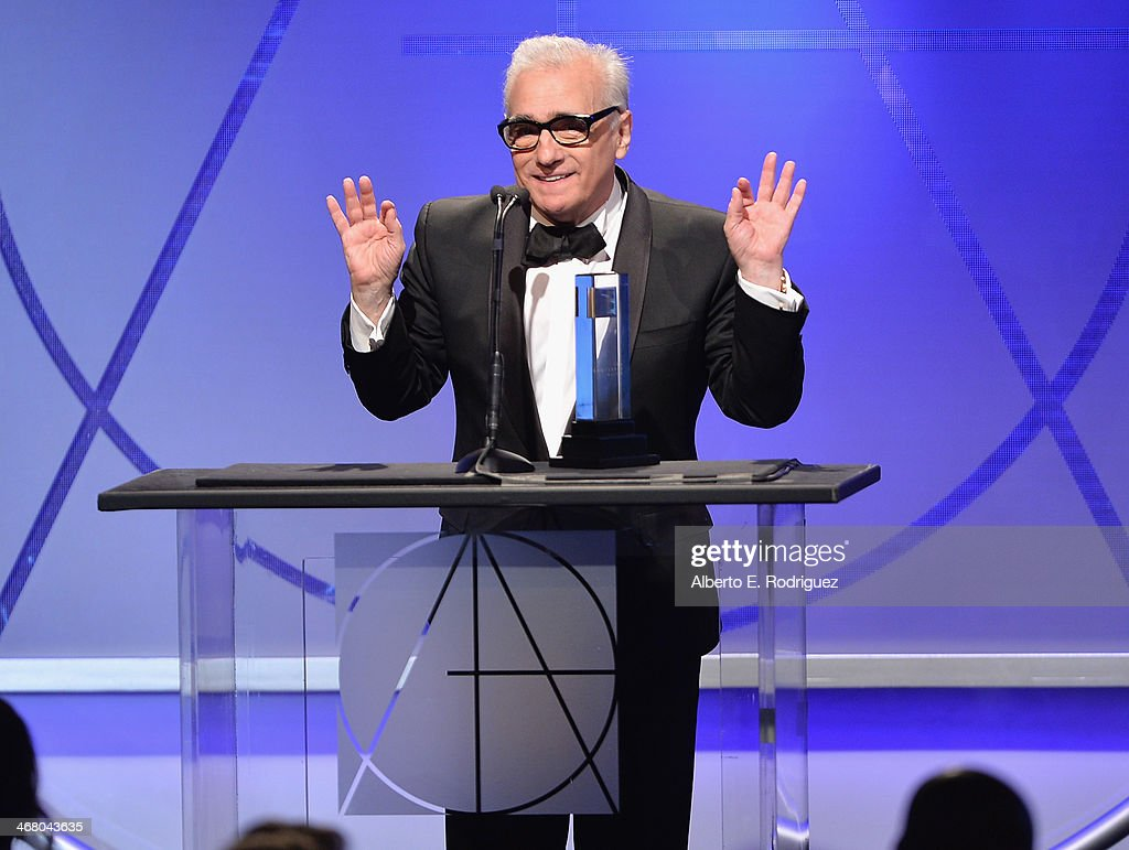 Director Martin Scorsese speaks on stage atthe 18th Annual Art Directors Guild Exellence In Production Design Awards at The Beverly Hilton Hotel on February 8, 2014 in Beverly Hills, California.