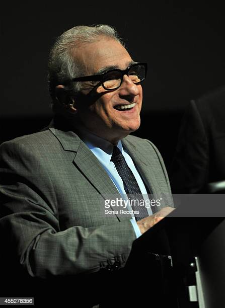 Director Martin Scorsese speaks onstage at the Mavericks Conversation with The 50 Year Argument with Director Martin Scorsese during the 2014 Toronto...