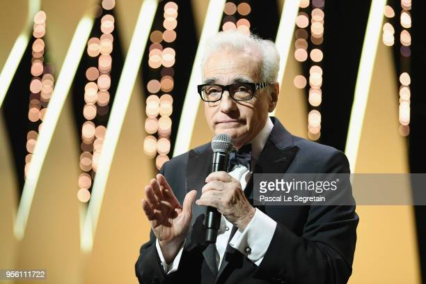 Director Martin Scorsese speaks onstage at the Opening Ceremony during the 71st annual Cannes Film Festival at Palais des Festivals on May 8, 2018 in...
