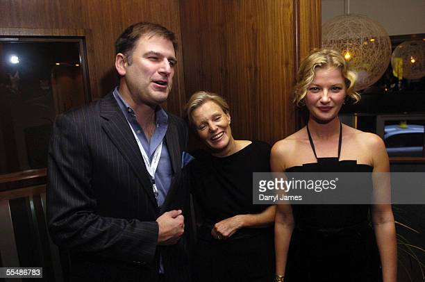 "Director Mary Harron , co-director of the TIFF Noah Cowan, , and actor Gretchen Mol attend the dinner party for ""The Notorious Bettie Page"" during..."