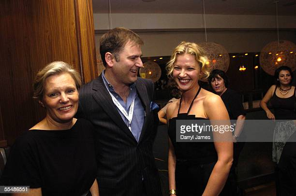 "Director Mary Harron, co-director of the TIFF Noah Cowan, and actress Gretchen Mol attend the dinner party for ""The Notorious Bettie Page"" during the..."