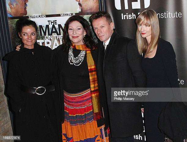 Director Mary McGuckian Kate O'Toole Larry Mullen Jr and Ann Acheson attend a screening of 'Man on the Train' on January 11 2013 in Dublin Ireland