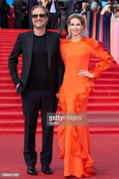 Director Maryus Weisberg and actress Natalya Bardo attends opening of the 39th Moscow International Film Festival outside the Karo 11 Oktyabr Cinema...