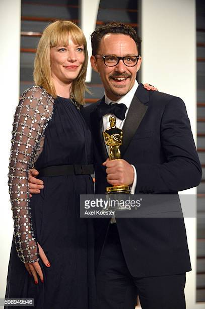Director Mat Kirkby winner of the Oscar for best liveaction short film attends the 2015 Vanity Fair Oscar Party hosted by Graydon Carter at the...