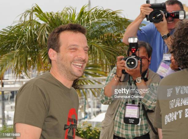 Director Mathieu Kassovitz attends the Johnny Mad Dog photocall at the Palais des Festivals during the 61st Cannes International Film Festival on May...