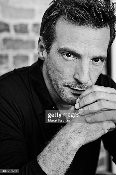 director Mathieu Kassovitz is photographed for Self Assignment on September 28 2014 in Paris France
