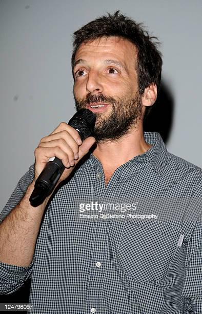 """Director Mathieu Kassovitz speaks onstage at the """"Rebellion"""" Premiere at Scotiabank during the 2011 Toronto International Film Festival on September..."""