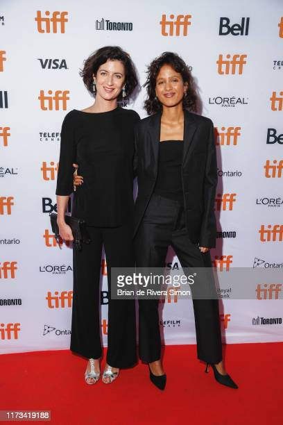 Director Mati Diop and Judith Lou Levy attend Atlantics A Ghost Love Story Premiere during the 2019 Toronto International Film Festival at Ryerson...