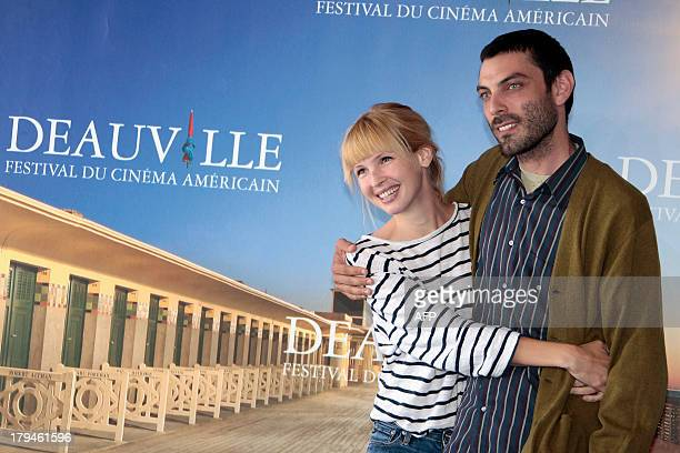 US director Matt Creed and US actress Amy Grantham pose during a photocall to present Lily his latest movie on September 4 2013 as part of the...
