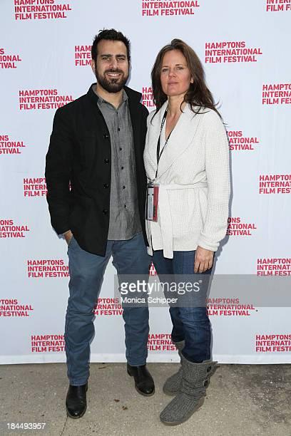Director Matt Goldman and Elizabeth Gilbert attend the 21st Annual Hamptons International Film Festival Closing Day on October 14, 2013 in East...