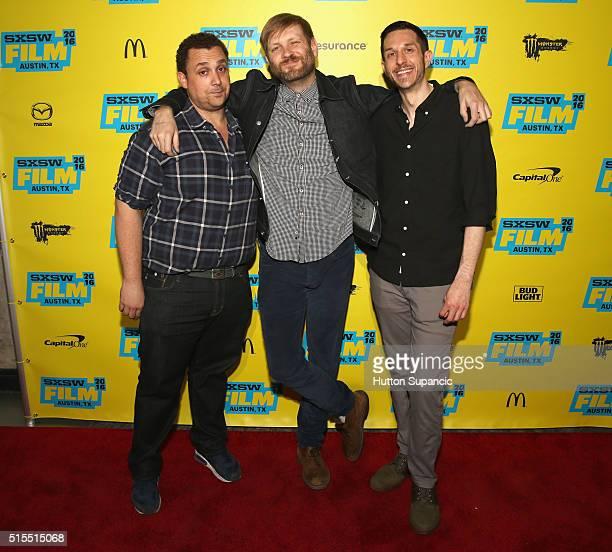 Director Matt Ornstein editor Ben Barnes and editor Jason Jones attend the premiere of Accidental Courtesy Daryl Davis Race America during the 2016...