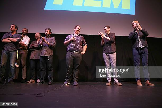 Director Matt Ornstein speaks osntage at the premiere of Accidental Courtesy Daryl Davis Race America during the 2016 SXSW Music Film Interactive...