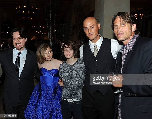 Director Matt Reeves actors Chloe Moretz Kodi SmitMcPhee Dylan Kenin and Chris Browning attend the premiere of Overture's Let Me In after party at...