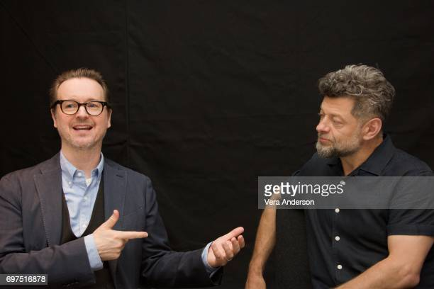 Director Matt Reeves and Andy Serkis at the War for the Planet of the Apes Press Conference at the SoHo Hotel on June 18 2017 in London England