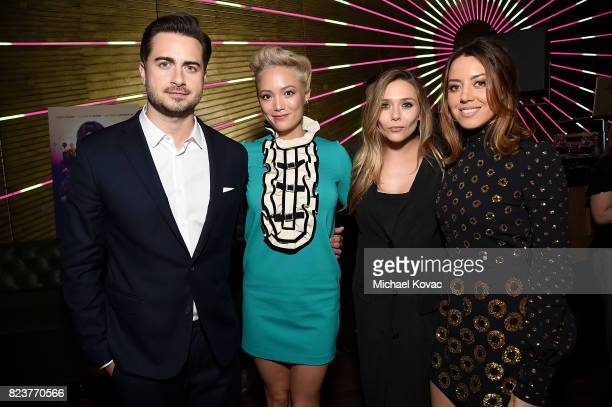 Director Matt Spicer actors Pom Klementieff Elizabeth Olsen and Aubrey Plaza attend the after party for the Los Angeles Premiere of INGRID GOES WEST...