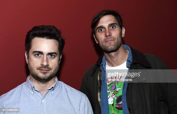"""Director Matt Spicer and co-writer David Branson Smith attend the Film Independent Screening Series screening and Q&A of """"Ingrid Goes West"""" at the..."""