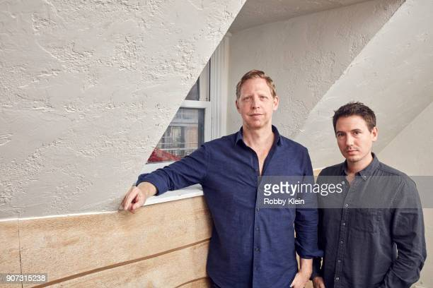 Director Matt Tyrnauer and film producer Corey Reeser from the film 'Studio 54' pose for a portrait in the YouTube x Getty Images Portrait Studio at...