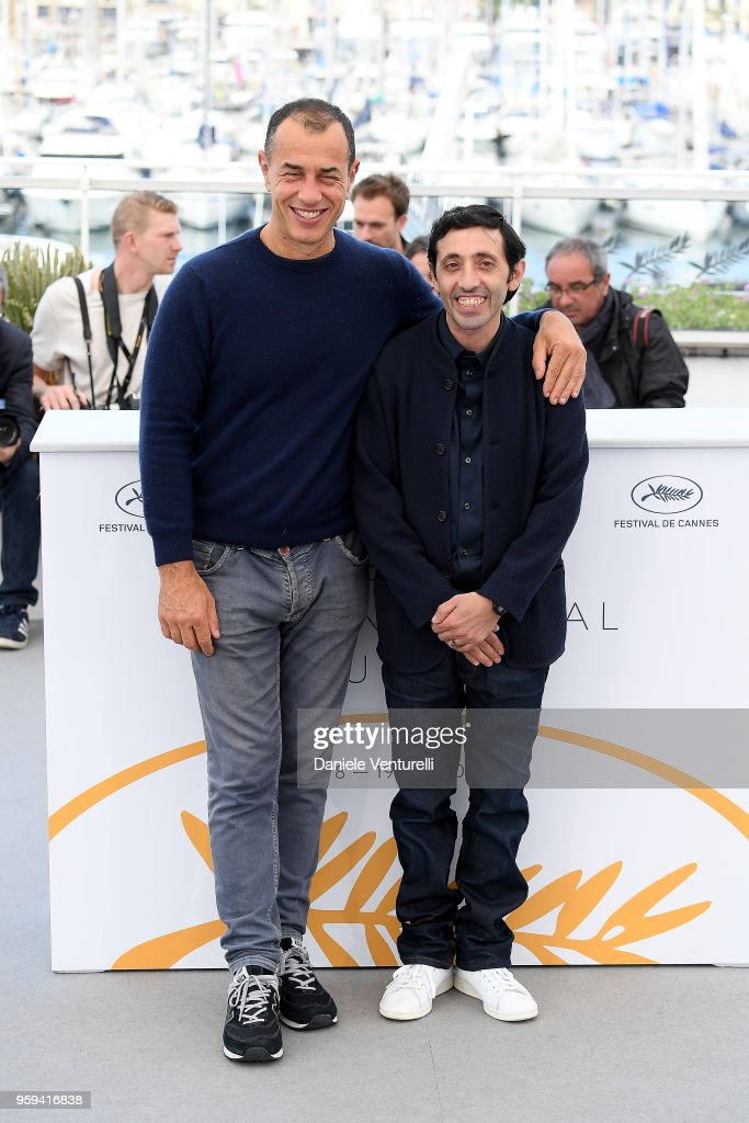 Director, Matteo Garrone (L) and actor Marcello Fonte attend the photocall for the 'Dogman' during the 71st annual Cannes Film Festival at Palais des Festivals on May 17, 2018 in Cannes, France.