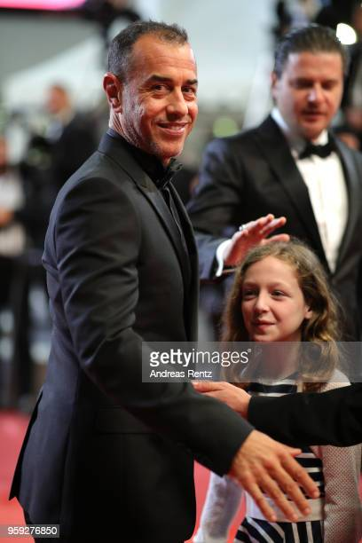 Director Matteo Garrone and actress Alida Baldari Calabria attend the screening of 'Dogman' during the 71st annual Cannes Film Festival at Palais des...