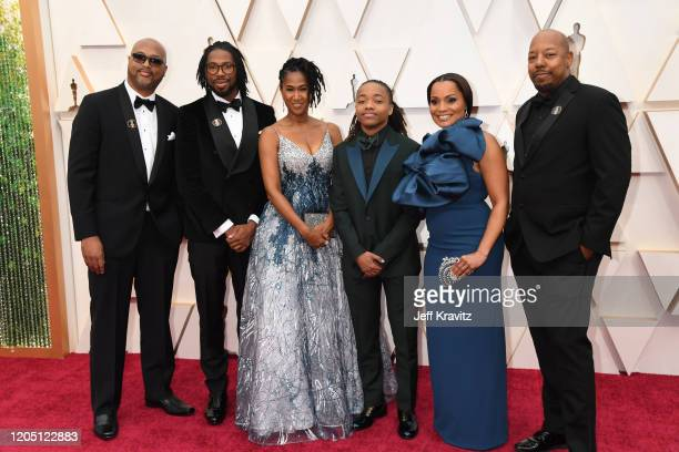 Director Matthew A Cherry producer Karen Rupert Toliver and Deandre Arnold with family attend the 92nd Annual Academy Awards at Hollywood and...