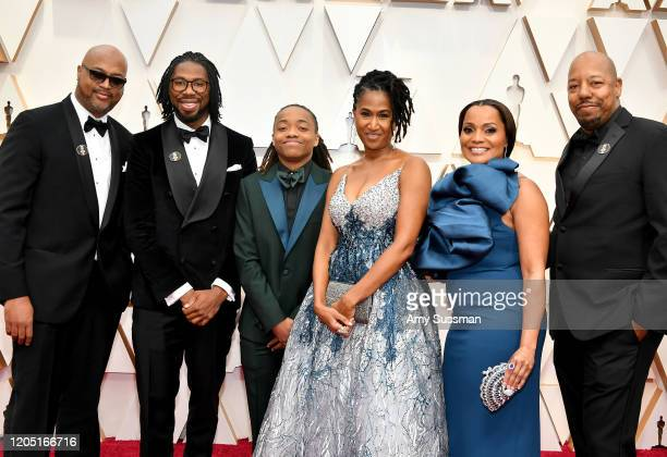 Director Matthew A Cherry producer Karen Rupert Toliver and Deandre Arnold attend the 92nd Annual Academy Awards at Hollywood and Highland on...