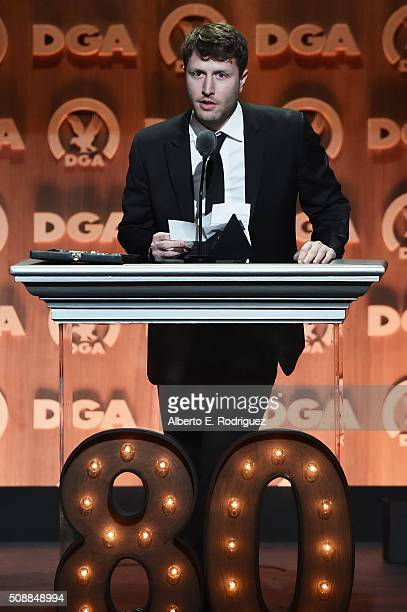 Director Matthew Heineman accepts the award for Outstanding Directorial Achievement in Documentary for Cartel Land onstage at the 68th Annual...