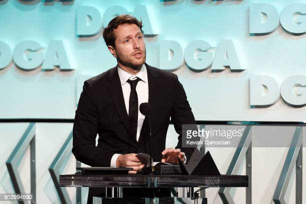 Director Matthew Heineman accepts the award for Outstanding Directorial Achievement in Documentary for 'City of Ghosts' onstage during the 70th...