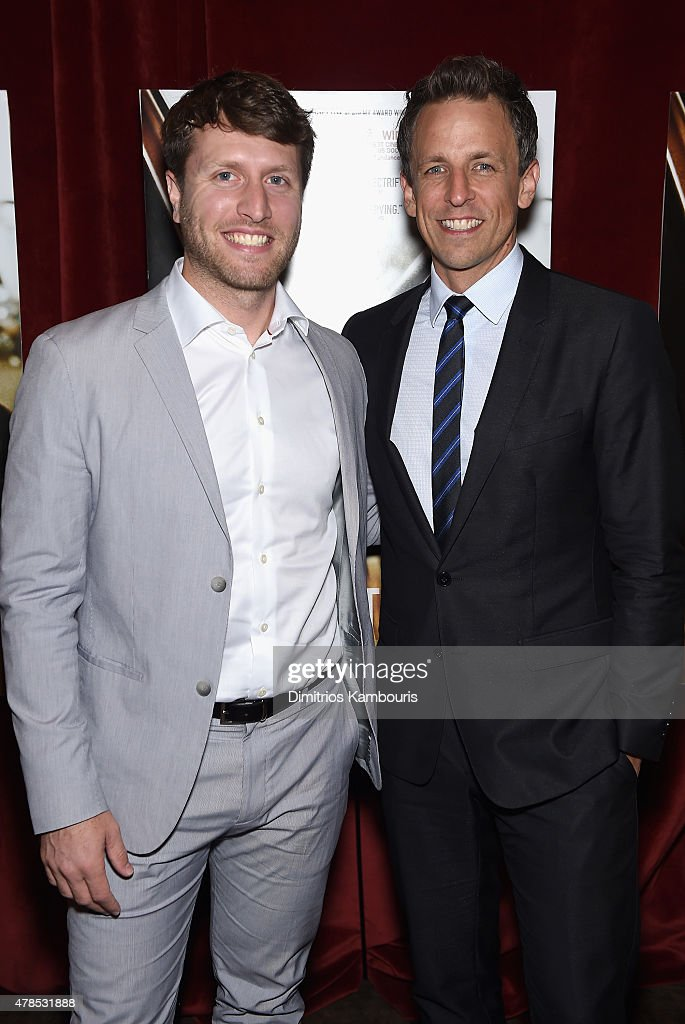 Director Matthew Heineman and Seth Meyers attend Seth Meyers with the Orchard and the Cinema Society Host a Special Screening of 'Cartel Land' at Tribeca Grand Hotel on June 25, 2015 in New York City.